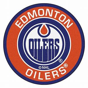"Edmonton Oilers Logo Roundel Mat - 27"""