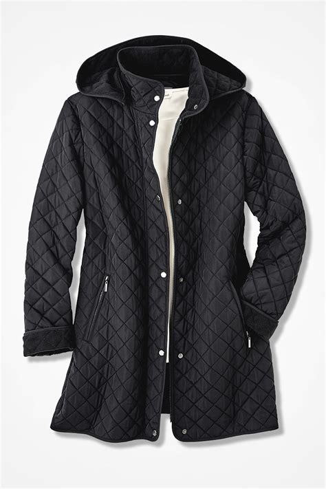 hooded quilted car coat coldwater creek