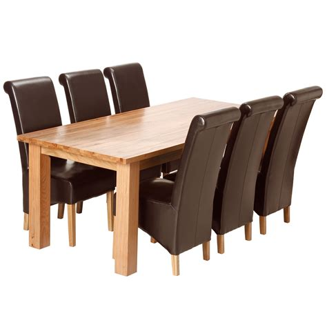 dining room table and 6 leather chairs 187 dining room decor