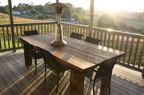 rustic outdoor dining table rustic outdoor table felt
