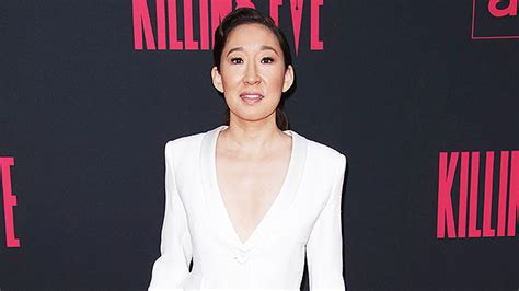 Stars Wearing Suits Without Shirts — Sandra Oh Cardi B
