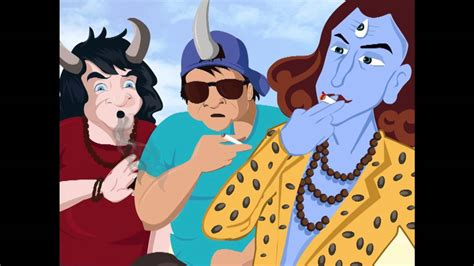 Lord Shiva Chilling Out With Cronies, Getting Blast From