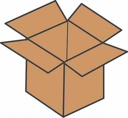 Box Brown Clker Clip Clipart Vector