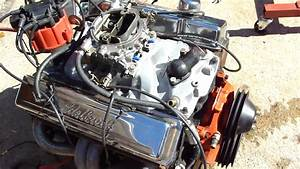 350 Chevy Engine Start Up On Ground   Hot Rat Rod Engine