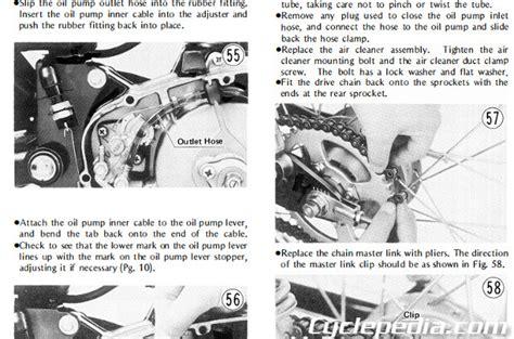 Kawasaki Ke100 Coil Wiring Diagram by 1971 1981 Kawasaki G5 Ke100 Motorcycle Service