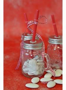 Mason Jar Paille : 1 mini mason jar paille rouge ~ Teatrodelosmanantiales.com Idées de Décoration