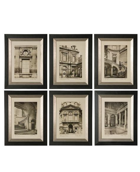 Uttermost Wall Pictures by Uttermost Wall Set Of 6 Framed Prints
