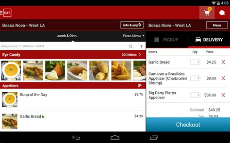application android cuisine eat24 food delivery takeout apk free android app