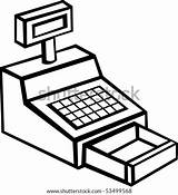 Cash Machine Register Vector Shutterstock Clip sketch template