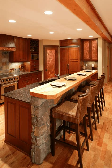 awesome rustic kitchen island ideas