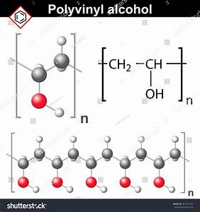 Polyvinyl Alcohol Polymer Chemical Structure 2d Stock