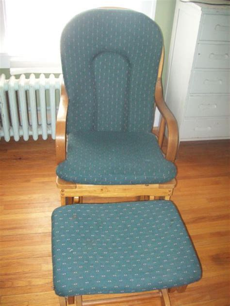 gently used glider rocker and glider foot stool in tdmeis