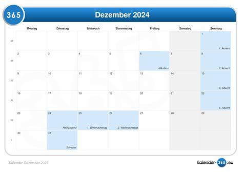 kalender dezember