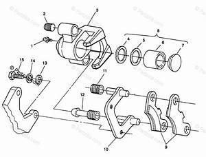 Polaris Atv 1993 Oem Parts Diagram For Front Brake