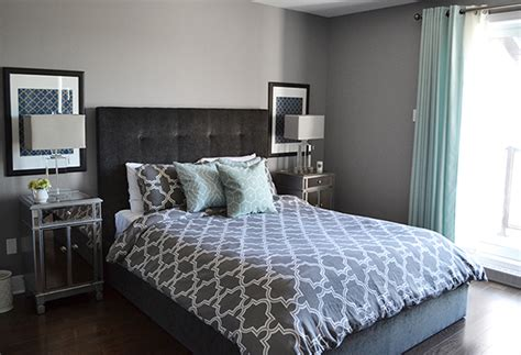 formal  conservative gray condo bedrooms home