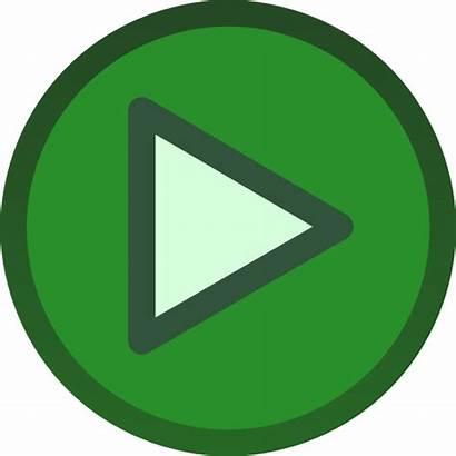 Button Play Clipart Icon Clip Plain Vector