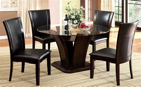 manhattan  dark cherry  pedestal dining room set