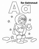 Astronaut Coloring Pages Printable Space Getcoloringpages Sheet Preschool Moon Coloringme sketch template