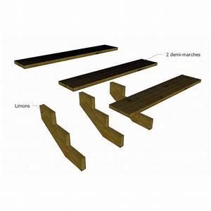 Escalier 4 Marches : kit escalier 4 marches largeur 150 cm en pin trait autoclave boutique alsace terrasse ~ Melissatoandfro.com Idées de Décoration