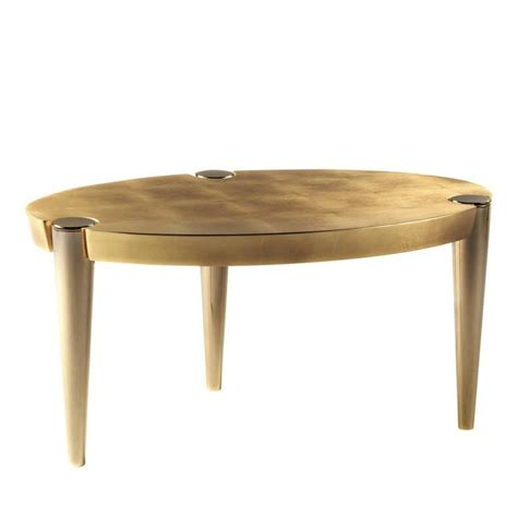 gold table l exquisite metal and gold leaf ottaviano coffee table for