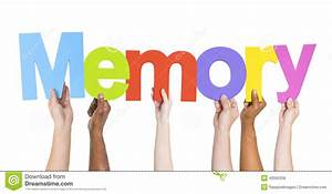 Diverse Hands Holding The Word Memory Stock Photo - Image ...