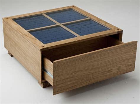 table basse avec tiroir design en image
