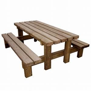 Table A Tapisser Brico Depot : sch n table picnic bois haus design ~ Dailycaller-alerts.com Idées de Décoration