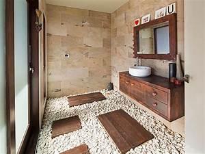 Pierre Et Sol : pierre naturelle dans la salle de bain choix entretien ~ Melissatoandfro.com Idées de Décoration