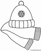 Scarf Coloring Hat Winter Clip Clipart Pages Scarves Clothes Christmas Clothing Hats Printable Cliparts Gloves Activity Mittens Coat Library Bigactivities sketch template