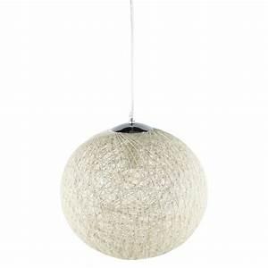 Suspension Boule Blanche : suspension luminaire boule blanche achat vente ~ Teatrodelosmanantiales.com Idées de Décoration