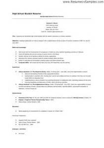 Post High School Resume by Resume Outline For A