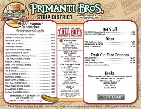 Locations - Primanti Bros. Restaurants