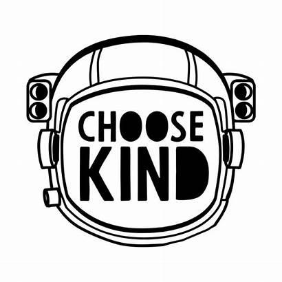 Choose Kind Helmet Wonder Space Shirt Sticker