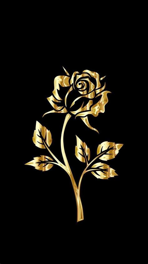 Choose from hundreds of free rose wallpapers. Golden rose# (With images) | Gold and black wallpaper