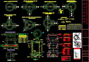 Inspection Chamber And Pipes In Autocad