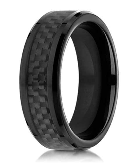 designer cobalt chrome wedding ring  black carbon fiber