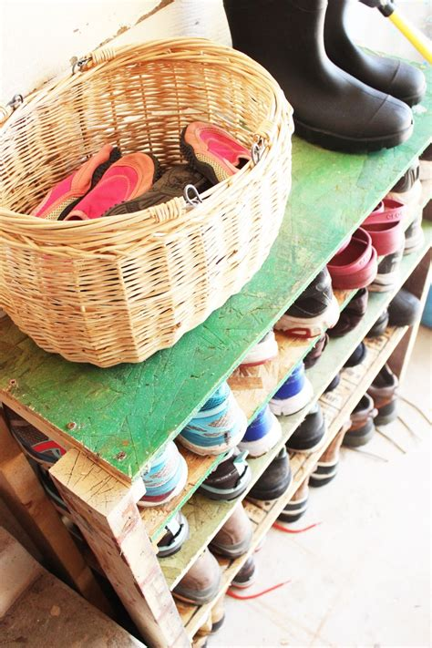 diy shoe storage shelves  garage  easy fast