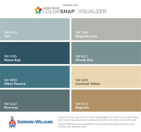 i found these colors with colorsnap 174 visualizer for iphone by sherwin williams sw 6219