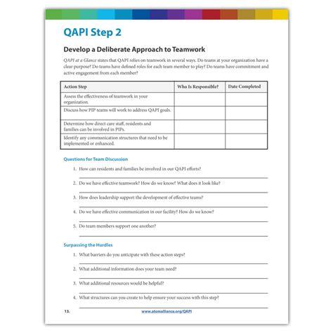 qapi step 2 team worksheet atom alliance