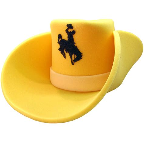 foam hat wyoming cowboys brown  gold outlet