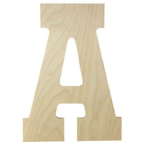 wood letter  artminds unfinished