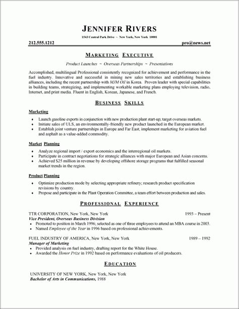 Resumes Formats And Exles by Best Resume Format 1 Resume Cv Design Best Resume