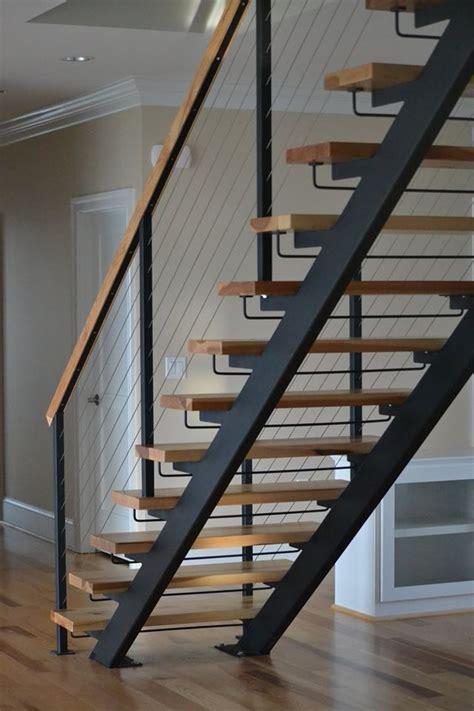 steel staircase design stairs staircase acadia acadiastairs exteriorstairs 2506