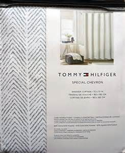 tommy hilfiger fabric shower curtain gray herringbone