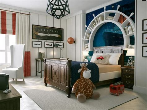 Nautical Decor Ideas, Kids Room Decorating With Ship Wheels