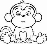 Coloring Monkeys Hard sketch template