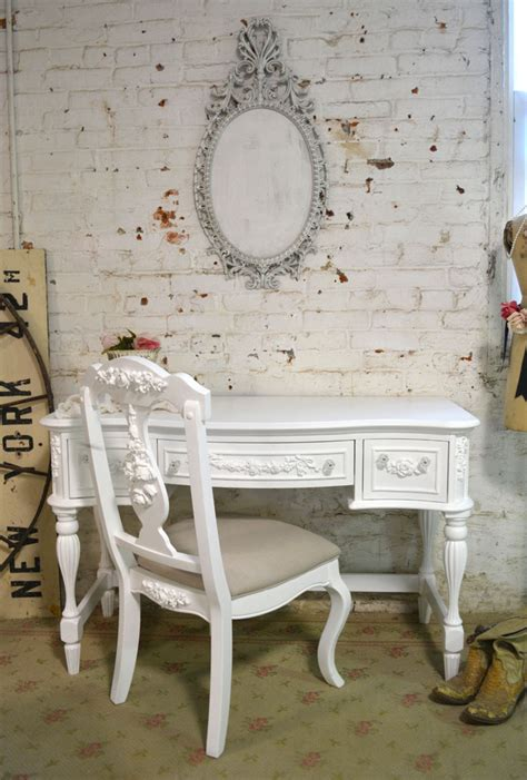 shabby chic desk chair painted cottage chic shabby french dining desk chair