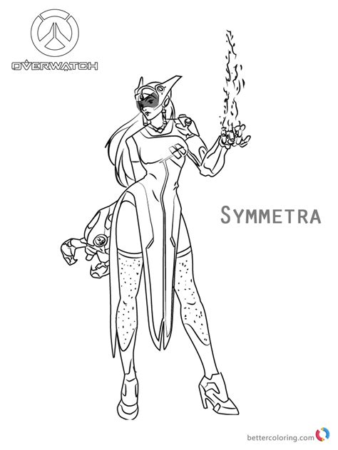 symmetra  overwatch coloring pages  printable coloring pages