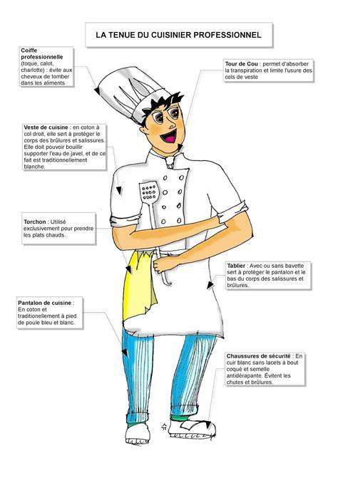 tenu de cuisine autour de la gastronomie la tenue du cuisinier fiche du