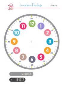cadran d horloge 224 imprimer momes net